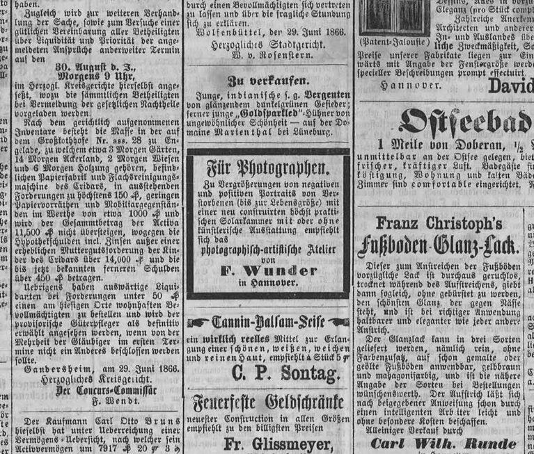 Beispiel für Spaltenbreiten in einer Zeitung